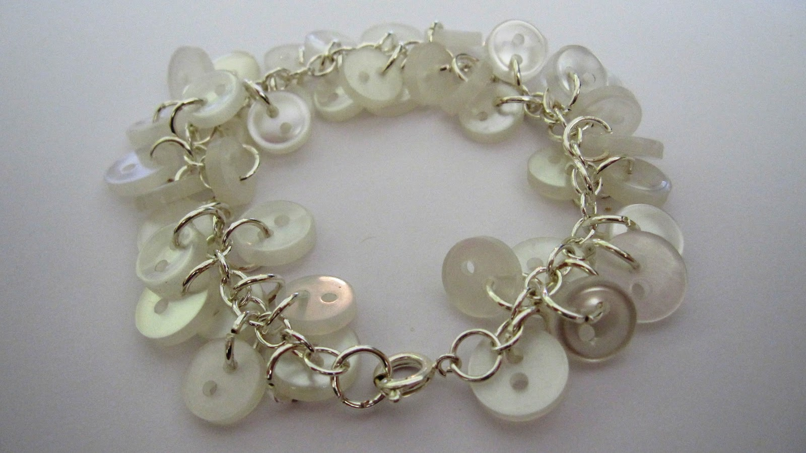jewelry craft button bracelet frugal york county